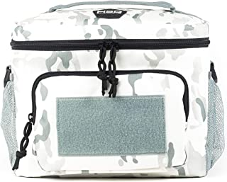 HSD Lunch Bag, Insulated Cooler, Large Thermal Lunch Box Tote with MOLLE/PALS Webbing, Adjustable Padded Shoulder Strap, for Tactical Men Women Adults (Arctic Camo, Large)