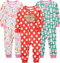 Simple Joys by Carter's Baby and Toddler Girls' 3-Pack Snug Fit Footless Cotton Pajamas