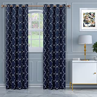 Superior Imperial Trellis Quality Soft, Insulated, Thermal, Woven Blackout Grommet Printed Curtain Panel Pair (Set Of 2) 5...