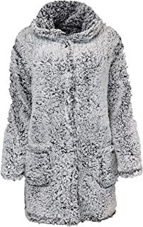 Rene Rofe Women's Warm & Toasty Hooded Fuzzy Jacket Pcokets