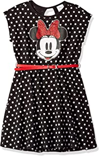 Girls' Minnie Mouse Dress with Belt