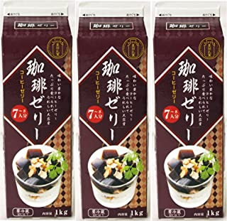 Y080350-3P 豊田乳業 牛乳パックシリーズ 珈琲ゼリー(コーヒーゼリー)1個1kg7~8人分×3個