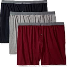 Fruit of the Loom Solid Knit Boxers 3-Pack (Colors and patterns may vary)