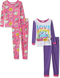 Shopkins Girls' Collection 4-Piece Cotton Pajama Set