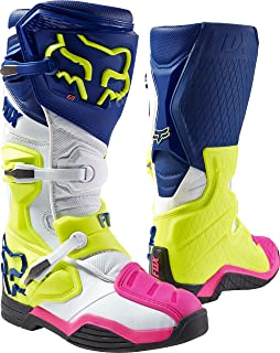Fox Racing Comp 8 Men's Off-Road Motorcycle Boots - Navy/White/Size 10