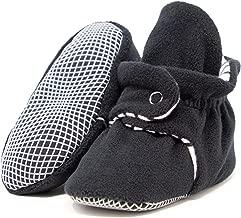 Ella Bonna Mini Fleece Booties with Non Skid Bottom | Flexible | for Baby Boys Girls Toddlers
