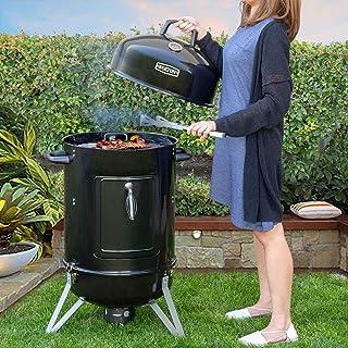 "Barton 95545 Vertical 18"" Charcoal Temperature Gauge BBQ Smoker, Black"