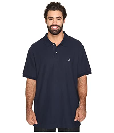 Nautica Big & Tall Big Tall Anchor Solid Deck Shirt (Navy) Men
