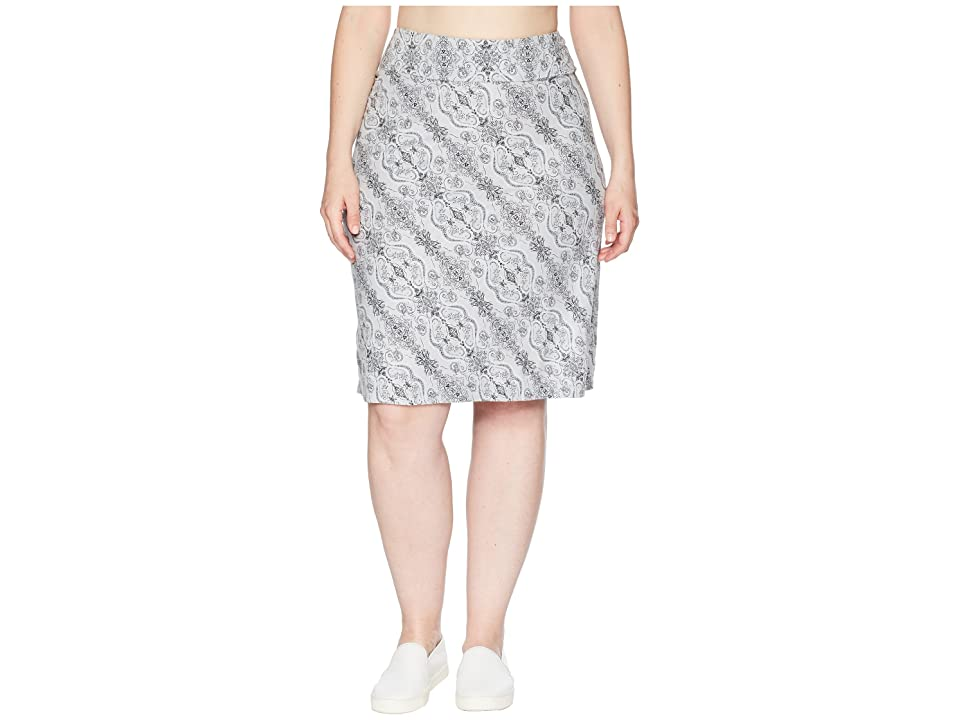 Aventura Clothing Plus Size Kenzie Skirt (Grey Dawn) Women