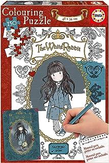 Educa Borrás- Gorjuss Puzzle 150 The White Rabbit (17820)