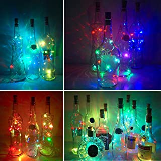 Wine Bottle Lights with Cork,LoveNite 10 Pack Battery Operated 10 LED Cork Shape Silver..