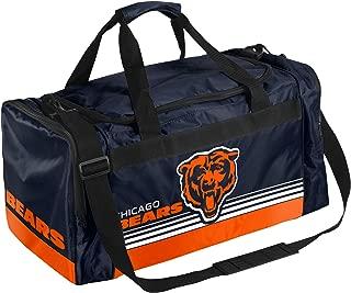 Chicago Bears Medium Striped Core Duffle Bag