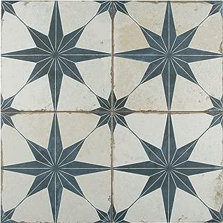 SomerTile FPESTRB Astre Ceramic Floor and Wall, 17.63