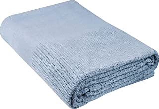 Beauty Threadz 100% Cotton Thermal Blanket (Baby Blue, 60 x 90)