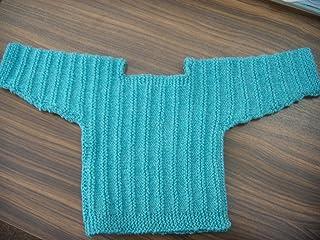 Hangestrickte babypullover-taille 62/68/turquoise kühlere pour la saison