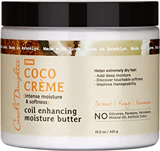 Curly Hair Products by Carol's Daughter, Coco Creme Coil Enhancing Moisture Butter For Very Dry Hair, with Coconut Oil and Mango Butter, Paraben Free and Silicone Free Butter for Curly Hair, 15 Ounce