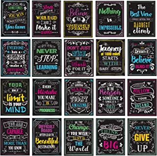 Motivational Posters for Classroom, Inspirational Quotes Posters Wall Art for Students Teachers Classroom & Home Decoratio...