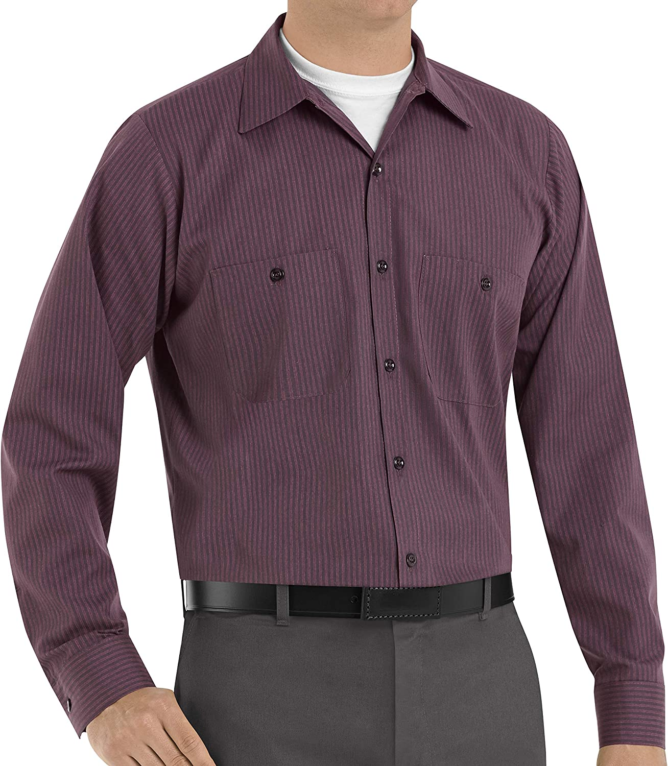 Red Kap Men's Industrial Work Shirt with Pencil Stall