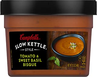 Campbell's Slow Kettle Style Soup, Tomato & Sweet Basil Bisque, 15.5 oz