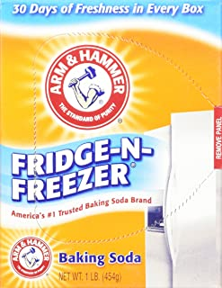 Arm & Hammer Fridge-N-Freezer Baking Soda Odor Absorber, 14 Ounces (Pack of 6)