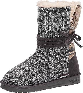 MUK LUKS womens Pull Fashion Boot, Dark Grey, 8 US