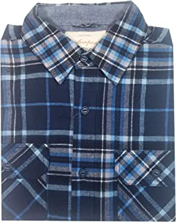 Vintage Men's Long Sleeve Casual Flannel Button Down Shirt