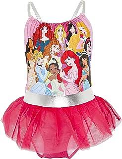 Disney Bañador para Niña Princesas, Pieza Frozen 2 Anna y Elsa, Jasmine, La Cenicienta, Rapunzel, Bella, La Sirenita Ariel...