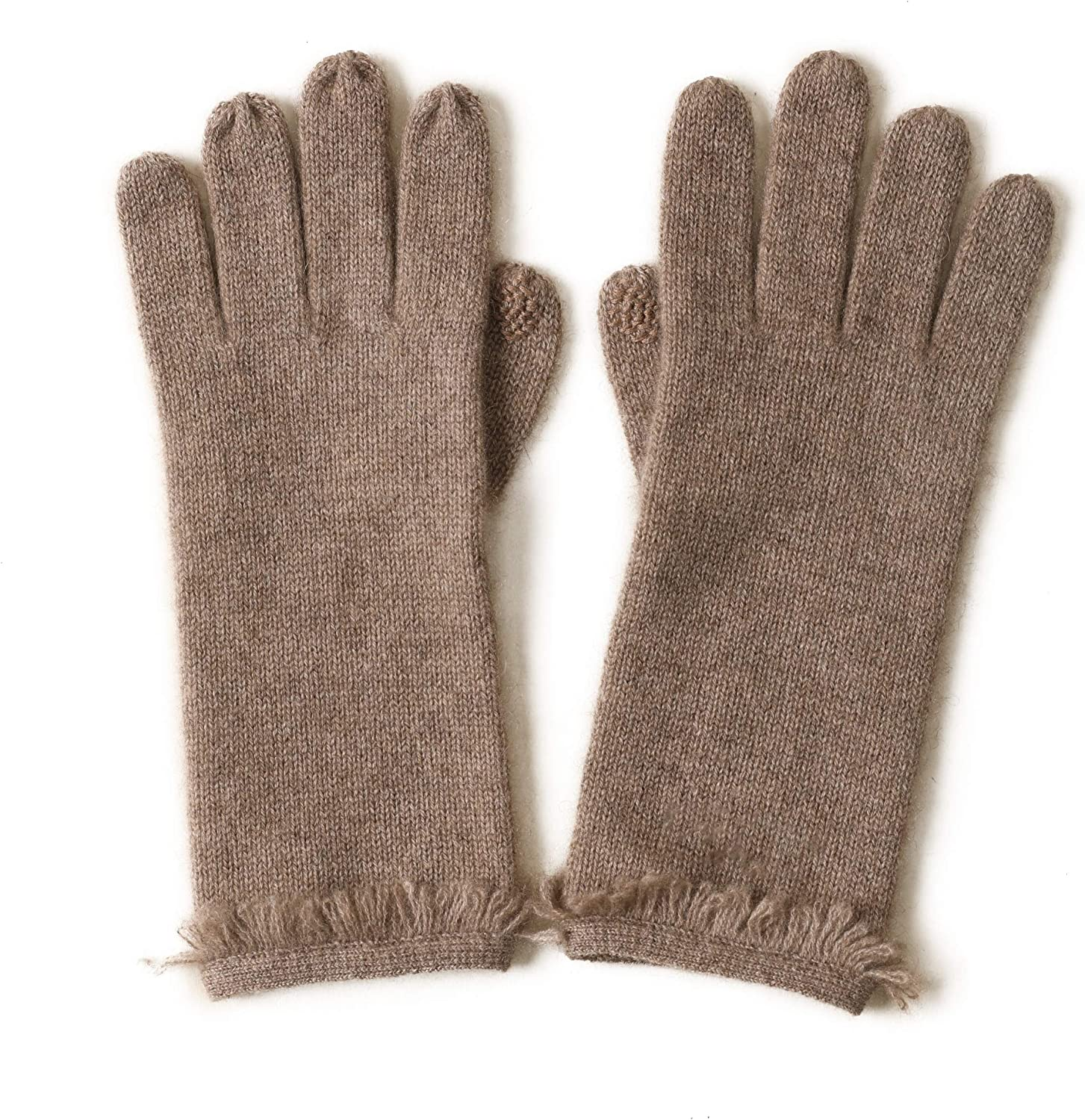 Screen Touching Function Winter Spring Fall Fashion Women Warm Knitted 100% Cashmere Gloves