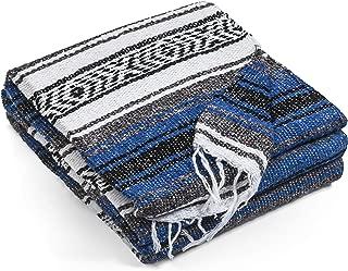 Topaz Hill Authentic Handmade Mexican Blanket - Vibrant Color Yoga Blanket - Super Soft Throw Blanket Picnic Blanket, Beach Blanket, Travel Blanket, Outdoor Blanket - Well Made Yoga Bolster