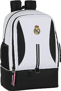 Bandolera con Bolsillo Exterior de Real Madrid 1ª Equipación 20/21, blanco/negro