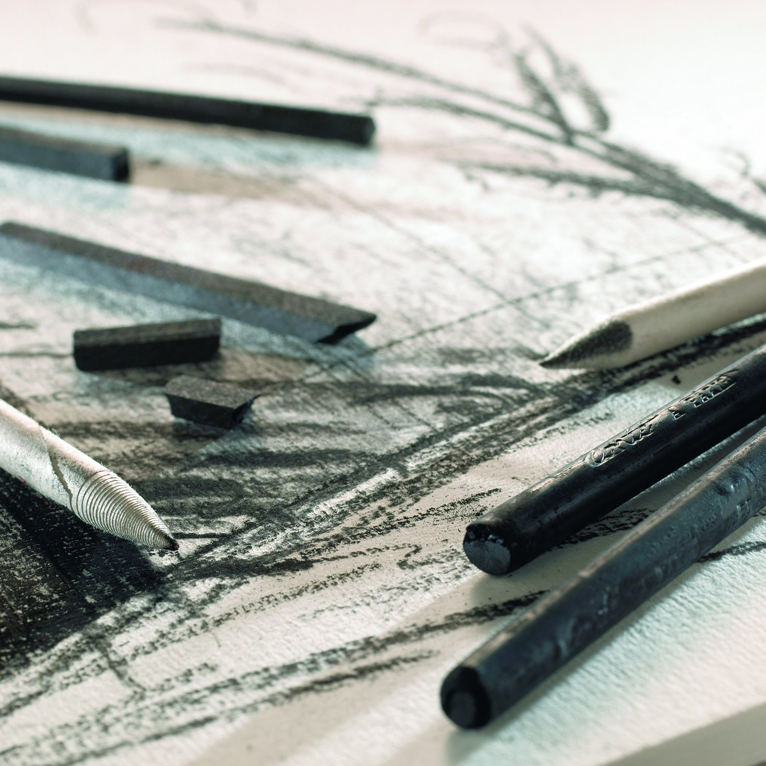 color gris Set de 2 carr/és de esbozo Cont/é /à Paris