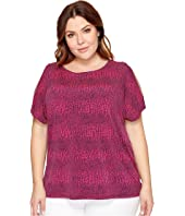 MICHAEL Michael Kors - Plus Size Zephyr Slit Sleeve Top