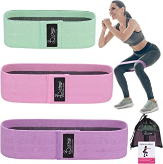 Fabric Resistance Bands | Non-Slip Heavy Duty Men/Women Loop Booty Bands | Thick & Wide Hip Leg Butt Squat Workout Variabl...