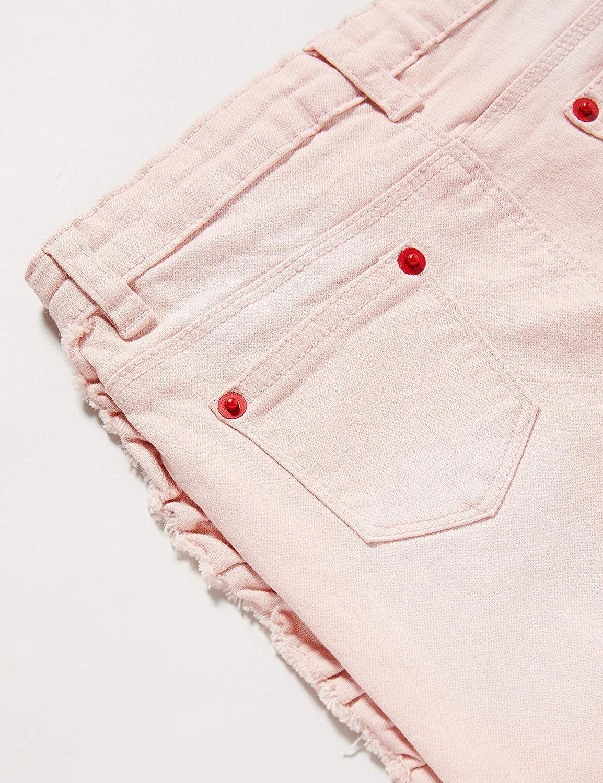 Brums Pants Denim Color Stretch con Rouches Jeans Bimba