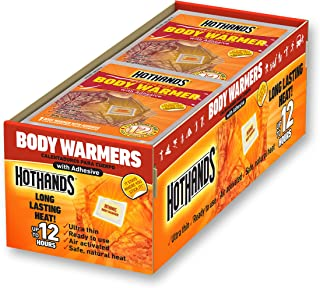 HotHands Body Warmers with Adhesive - Long Lasting Safe Natural Odorless Air Activated Warmers - Up to 12 Hours of Heat - 40 Individual Warmers