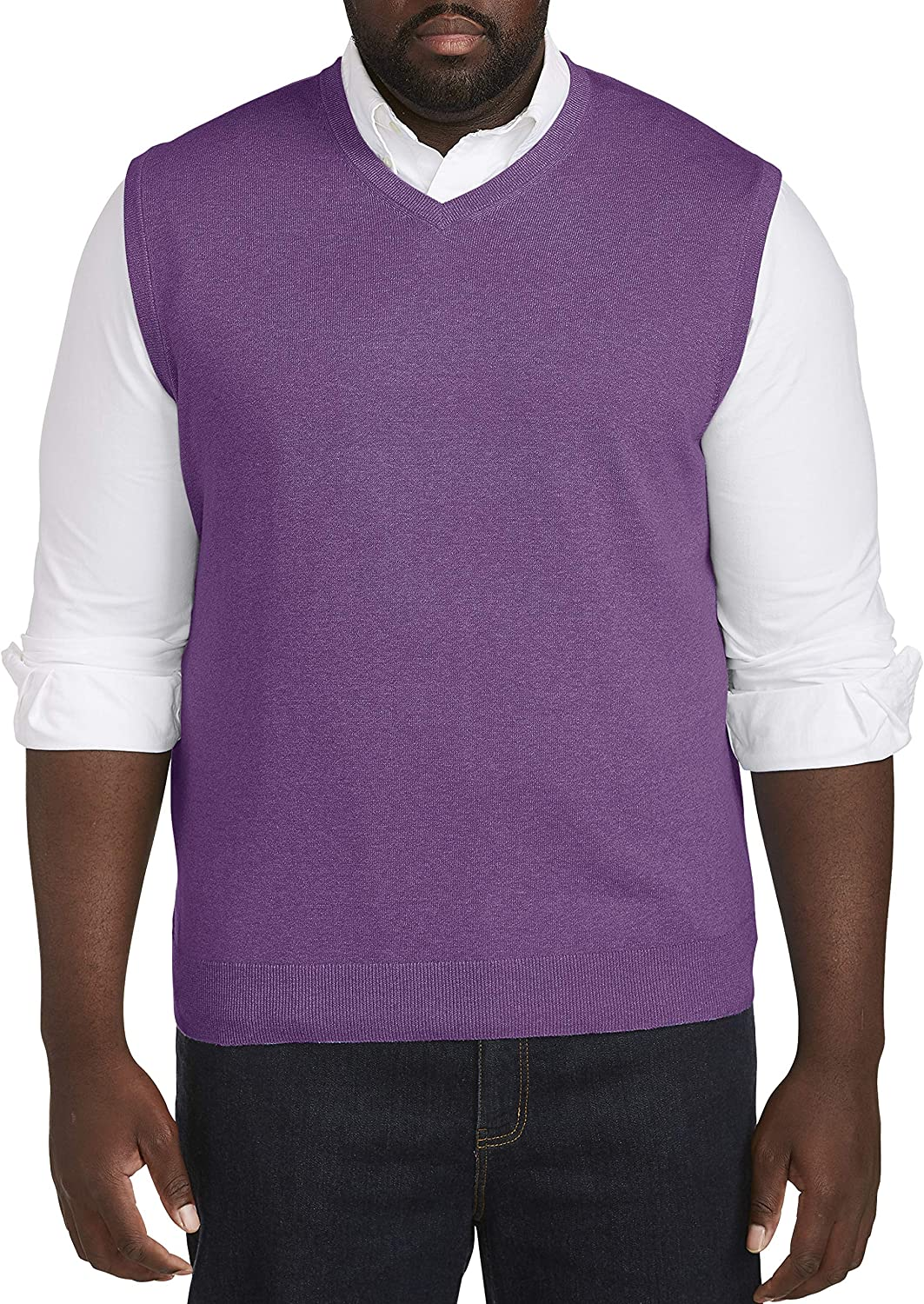 Harbor Directly managed store Bay by Bombing new work DXL Big and Crown V-Neck Vest Sweater Tall Jewel
