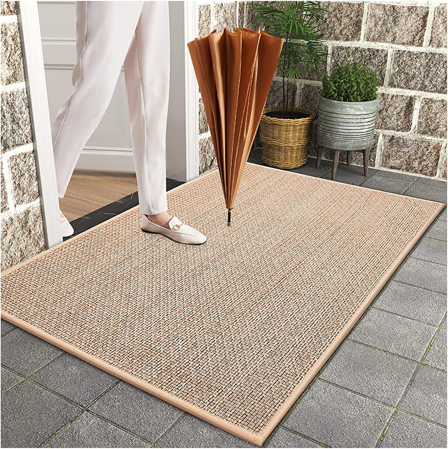 Hand-Woven Entry Natural Rubber Opening large release sale Door Backing Heavy Duty Mat Sales results No. 1 Outd