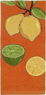 All-Clad Textiles 100-percent Cotton Fiber Reactive Lemon Print Kitchen Towel, 17-inch x 30-inch, Tangerine Orange