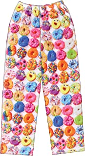 iscream Big Girls Silky Soft Plush Fleece Pants - Snacks & Sweets Collection