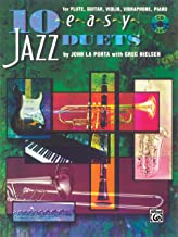 10 Easy Jazz Duets: C (Flute, Guitar, Violin, Vibraharp, Piano), Book & CD