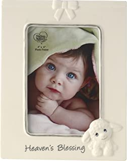 Precious Moments Heaven's Blessings Ceramic Lamb Photo Frame, Beige