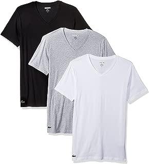 Lacoste Men's 100% Cotton V-Neck T-Shirt, 3 Pack