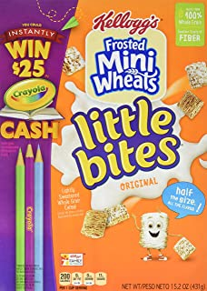 Kellogg's Frosted Mini-Wheats Little Bites Original Cereal, 15.2-Ounce (Pack of 4)