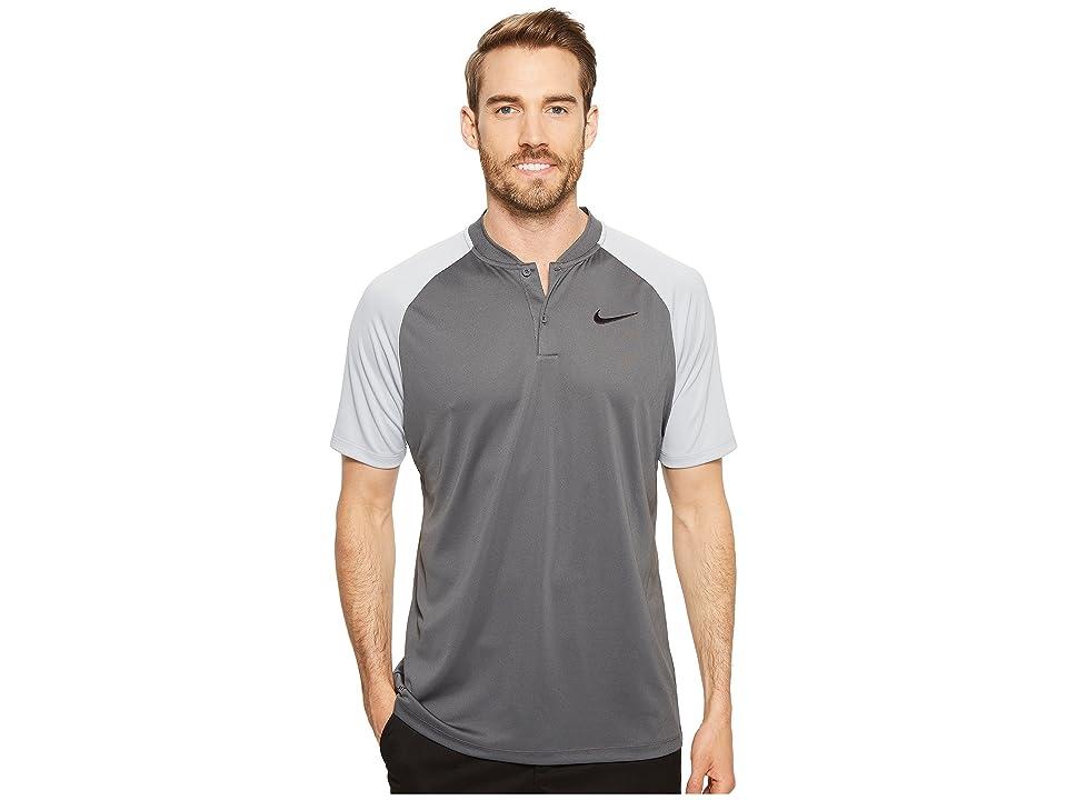 Nike Golf Victory Blade Polo (Dark Grey/Wolf Grey/White) Men