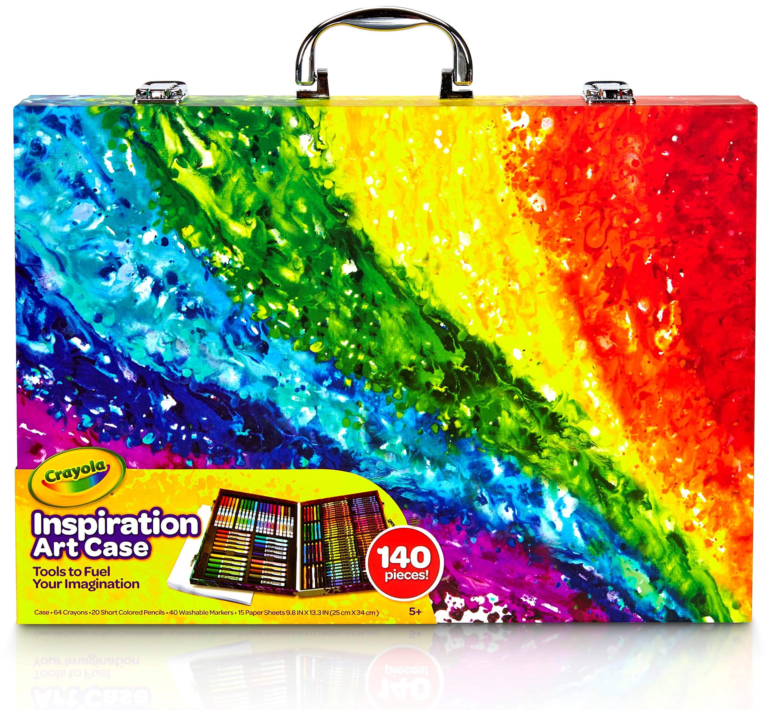 Crayola 绘儿乐 创意展现艺术珍藏礼盒 儿童绘画工具箱 140件装(适用年龄:4岁以上)(版本随机发货)
