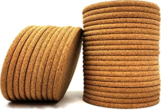 Cork Coasters - Round Blank Cork Drink Coasters 4 Inches with Rounded Edges - 1/4 Inch Thick - Pack of 30 - Coasters For Drinks, DIY Crafts, Plants, Party and Wedding Favors