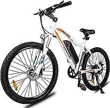 ECOTRIC Mountain EBike Electric Bicycle White Bike 26