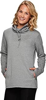 RBX Active Women's Ultra Soft Quilted Cowl Neck Pullover Sweatshirt