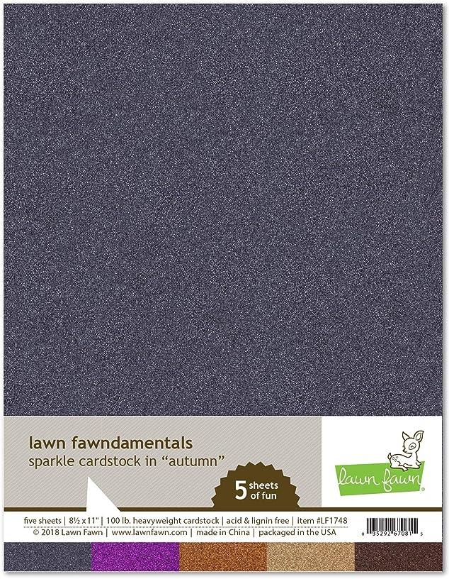 Lawn Fawn LF1748 Sparkle Cardstock - Autumn Lawn Fawndamentals hwhg272389660079
