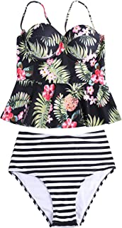Sign Fashion Banana Leaves Print One-piece Swimsuit